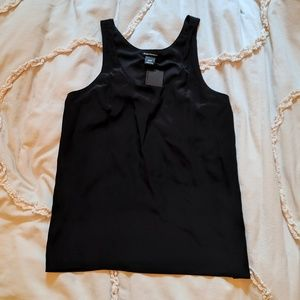NWT Club Monaco black silk tank blouse chemise